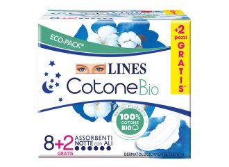 LINES COTONE BIO ULTRA NOTTE 8+2 PEZZI