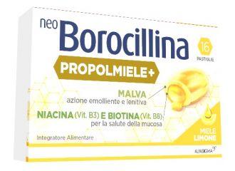 NEOBOROCILLINA PROPOLMIELE+ MIELE/LIMONE 16 PASTIGLIE
