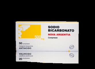 SODIO BICARBONATO NOVA ARGENTIA 500 MG COMPRESSE
