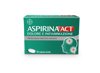 ASPIRINAACT DOLORE E INFIAMMAZIONE 1000 MG COMPRESSE RIVESTITE